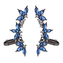 Red Herring - Blue crystal ear cuffs