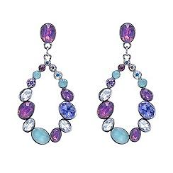 Red Herring - Pastel mix stone open oval drop earrings