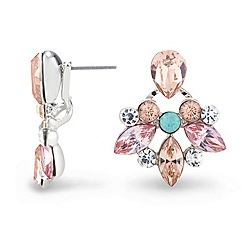 Red Herring - Pastel multi stone crystal lobe earring