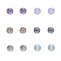 Red Herring - Crystal pastels 6 pack of earrings
