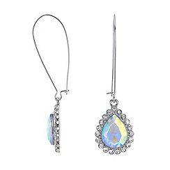 Red Herring - Aurora borealis crystal teardrop wire earring