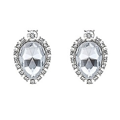 Red Herring - Crystal surround teardrop earring