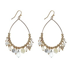 Red Herring - Peardrop earring with charms