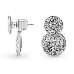 Red Herring - Crystal embellished lobe earrings