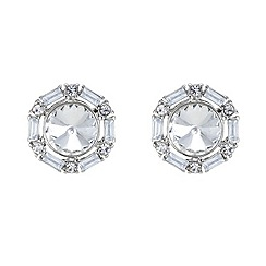 Red Herring - Multi stone surround crystal stud earring