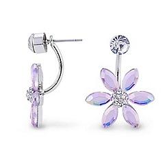 Red Herring - Blue flower lobe earrings