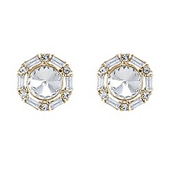 Red Herring - Baguette crystal stud earring