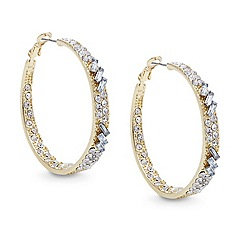 Red Herring - Gold multi crystal hoop earring