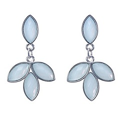 Red Herring - Mint green crystal leaf style earring