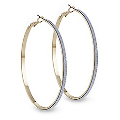 Red Herring - Glitter effect oversized hoop earring
