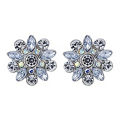 Red Herring - Aurora borealis flower stud earring
