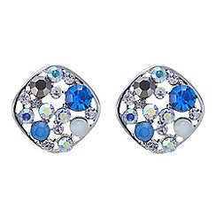 Red Herring - Ocean blue bubble stud earring