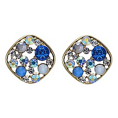Red Herring - Ocean blue bubble stud earring