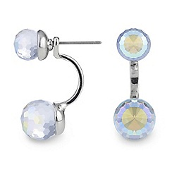Red Herring - Crystal aurora borealis ball lobe earring