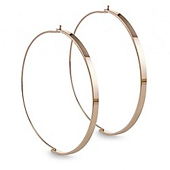 Red Herring - Rose gold flat bar front hoop earring