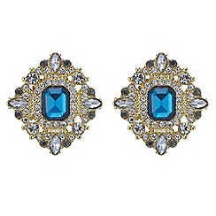 Red Herring - Blue stone statement stud earring