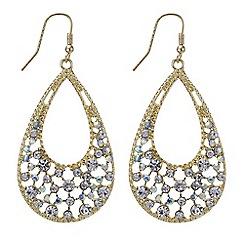 Red Herring - Aurora borealis crystal teardrop earring