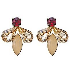 Red Herring - Peach diamante earring