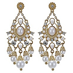 Red Herring - Statement pearl chandelier earring