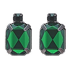 Red Herring - Emerald green mini stud earring