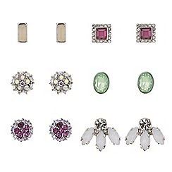 Red Herring - Pastel mixed shape stud earring pack