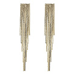Red Herring - Gold disco chain drop earring