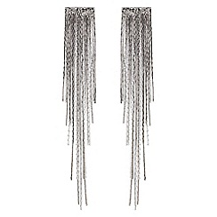 Red Herring - Silver disco chain drop earring