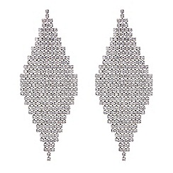 Red Herring - Silver diamante shower earrings