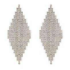 Red Herring - Gold diamante shower earrings