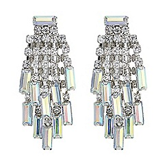 Red Herring - Aurora borealis crystal chandelier earring
