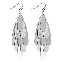 Red Herring - Silver teardrop cluster chandelier earring