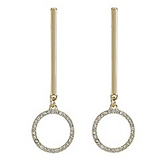 Red Herring - Gold pave circle drop earring