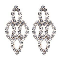 Red Herring - Rose gold diamante loop earring