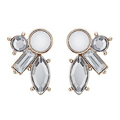 Red Herring - Rose gold frosted crystal stud earring