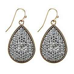 Red Herring - Grey druzy drop peardrop earring