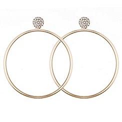 Red Herring - Rose gold forward facing circle hoop earring