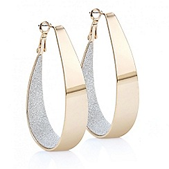 Red Herring - Rose gold glitter inlay hoop earring