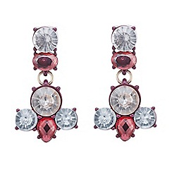 Red Herring - Red crystal statement drop earring