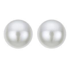 Red Herring - Large cream pearl stud earring