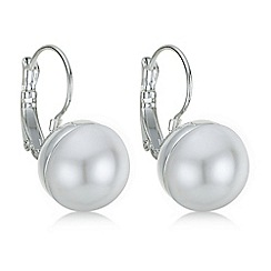 Red Herring - Cream pearl hook earring