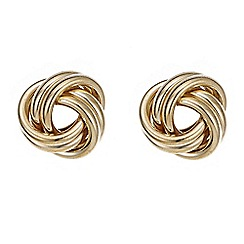 Red Herring - Gold twisted stud earring