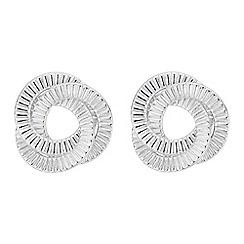 Red Herring - Silver swirl twist earring