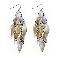 Red Herring - Multi tone leaf shower earring