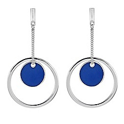 Red Herring - Multi circle hoop drop earring