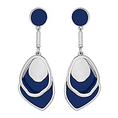 Red Herring - Blue layered droplet earring