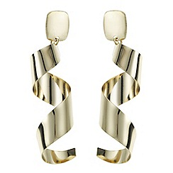 Red Herring - Gold statement twist drop earring