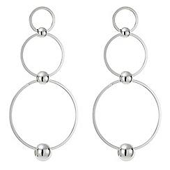 Red Herring - Silver multi hoop drop earring