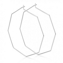 Red Herring - Silver octagon hoop earring