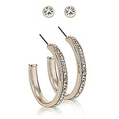 Red Herring - Rose gold hoop and stud earring set