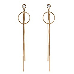 Red Herring - Rose gold circle tassel drop earring